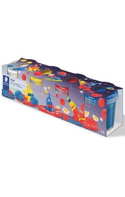 STAEDTLER modeller voks, 4 farver i plast bøtter  4006608812881