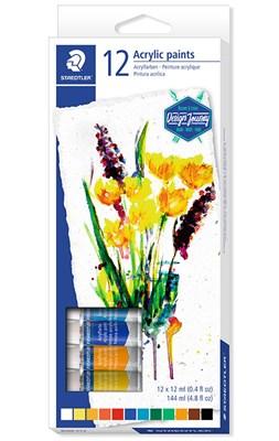STAEDTLER Karat akrylmaling, 12 stk.  4007817024164