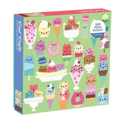 Cat Cafe 500 Piece Puzzle Galison Mudpuppy 9780735355859