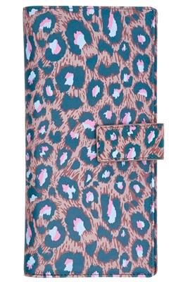 Rice Rejsedokuments pung i brun med leopard-print  5708315171457