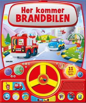 Her kommer brandbilen - med lyd og rat  9788711912355