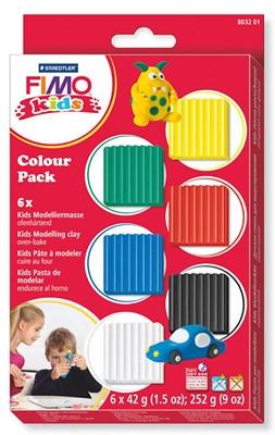 FIMO Kids ler, 6 farver  4007817805176