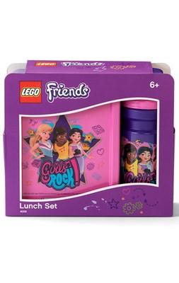 Madkassesæt med drikkedunk, LEGO Friends girls rock  5711938032128