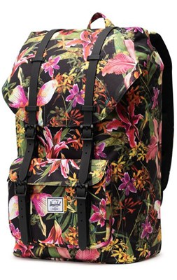 Herschel Rygsæk Little America, Jungle Hoffman blomstret  0828432274512
