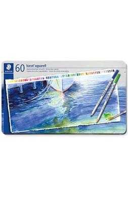 STAEDTLER karat akvarel farveblyanter, 60 stk. i metalæske  4007817123096