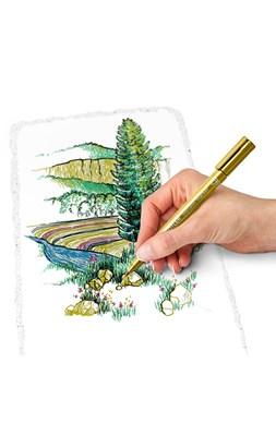 STAEDTLER Metallic markere, 6 stk. + pigment liner  4007817038390