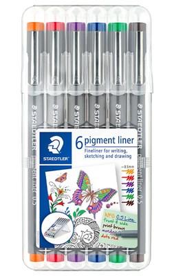 STAEDTLER Pigment liner 0,5 mm, 6 stk. ass.  4007817036761