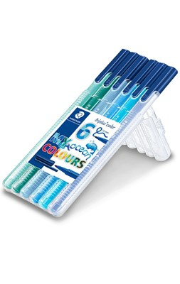 "STAEDTLER Triplus color tusser, 6 stk. ""Ocean colours""  4007817039991"