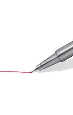 STAEDTLER Triplus fineliner, 20 stk. i pink rullepenal  4007817135648
