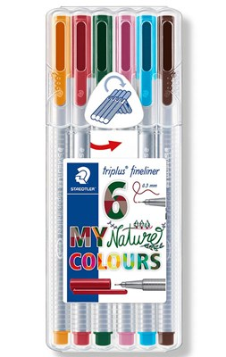 "STAEDTLER Triplus fineliner, 6 stk. ""nature colours""  4007817336014"