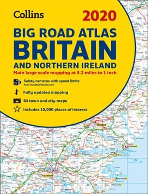 2020 Collins Big Road Atlas Britain and Northern Ireland Collins Maps 9780008318680