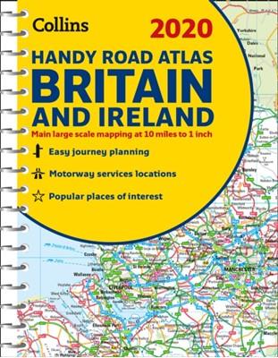 2020 Collins Handy Road Atlas Britain and Ireland Collins Maps 9780008318710