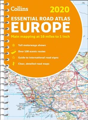 2020 Collins Essential Road Atlas Europe Collins Maps 9780008319755