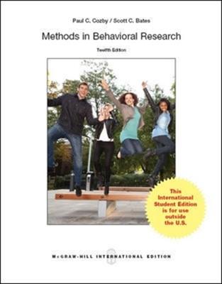 Methods in Behavioral Research Scott Bates, Paul C. Cozby 9789814577090