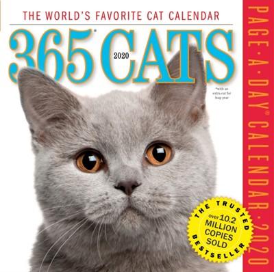 2020 365 Cats Colour Page-A-Day Calendar Workman Publishing 9781523506965