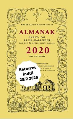 Universitetets Almanak Skriv- og Rejsekalender 2020 Københavns Universitet 9788799629558