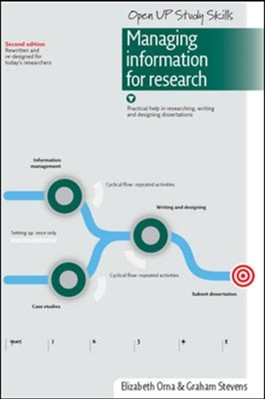 Managing Information for Research Elizabeth Orna, Graham Stevens 9780335221424