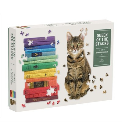 Queen of the Stacks 2-in-1 Puzzle Set Galison 9780735360136
