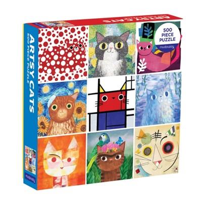 Artsy Cats 500 Piece Family Puzzle  9780735361072