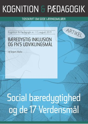 Bæredygtig inklusion og FN's udviklingsmål Jesper Holm 9788771854008