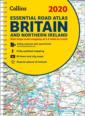 2020 Collins Essential Road Atlas Britain and Northern Ireland Collins Maps 9780008318703