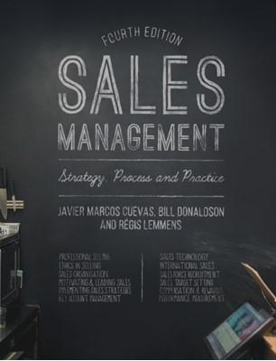 Sales Management Javier Marcos Cuevas, Bill Donaldson, Regis Lemmens 9781137355102