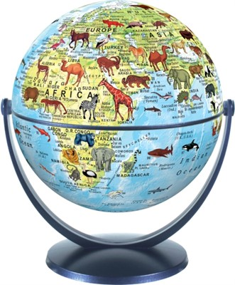 Animal World Globe 15cm  9783948300036