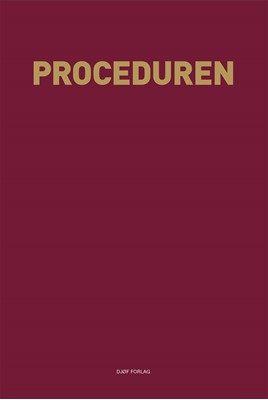 Proceduren Christian Lundblad, Redigeret af Pernille Backhausen, Håkun Djurhuus 9788757431865