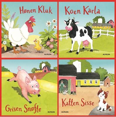 Verdens bedste bondegård (gaveæske med 4 papbøger) Jan Mogensen 9788741507330