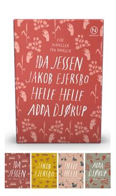 Gaveæske med fire noveller af Jessen, Ejersbo, Helle & Djørup Helle Helle, Ida Jessen, Jakob Ejersbo, Ida Djørup, Adda Djørup 9788793904095