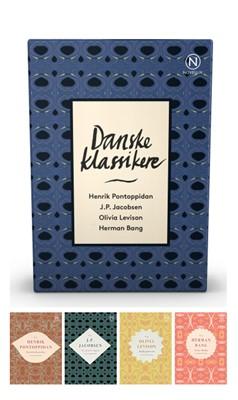 Gaveæske med fire danske klassikere Herman Bang, J. P. Jacobsen, Henrik Pontoppidan, Olivia Levison 9788793904040