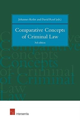 Comparative Concepts of Criminal Law David Roef, Johannes Keiler 9781780686851