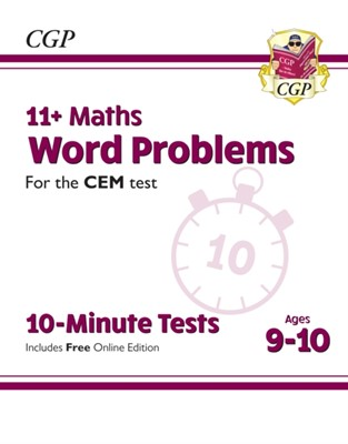 11+ CEM 10-Minute Tests: Maths Word Problems - Ages 9-10 (with Online Edition) CGP Books 9781789084412