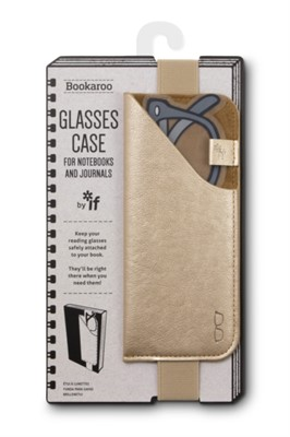 Bookaroo Glasses Case - Gold  5035393412050