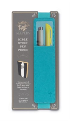 Faith Keepers Bible Study Pen Pouch - Turquoise  5035393334055