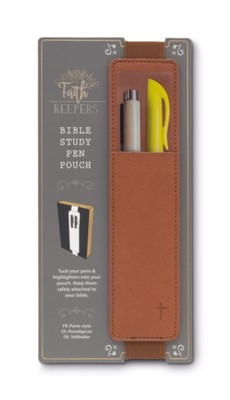 Faith Keepers Bible Study Pen Pouch - Brown  5035393334024
