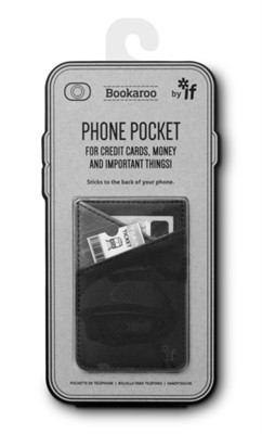 Bookaroo Phone Pocket - Black  5035393405014