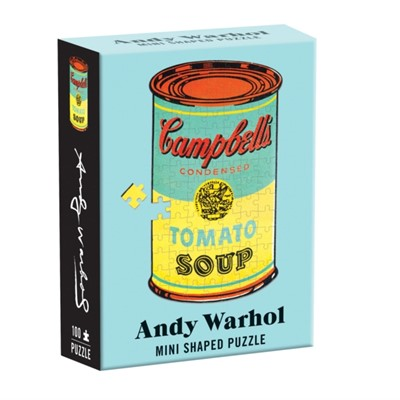 Andy Warhol Mini Shaped Puzzle Campbell's Soup Galison 9780735359970