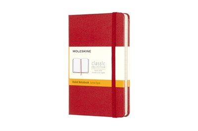 Moleskine Pocket Ruled Hardcover Notebook Red Moleskine 9788862930000