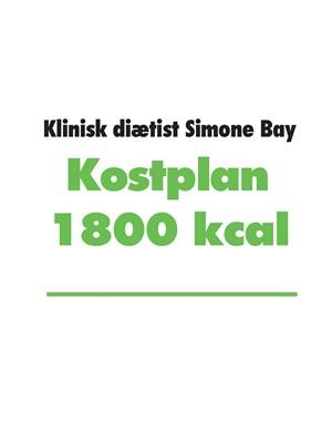 Kostplan 1800 kcal Simone Bay 9788743013662