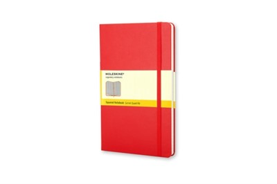 Moleskine Large Squared Hardcover Notebook Red  9788862930338
