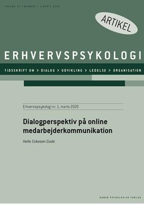 Dialogperspektiv på online medarbejderkommunikation Helle  Eskesen Gode 9788771854244