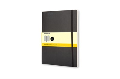 Moleskine Soft Extra Large Squared Notebook Black Moleskine 9788883707247