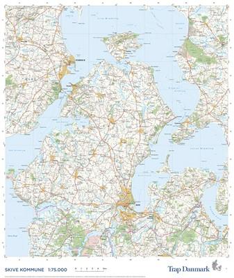 Trap Danmark: Kort over Skive Kommune Trap Danmark 9788771811919