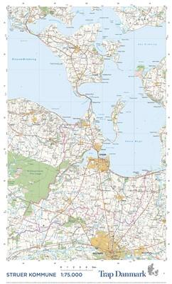 Trap Danmark: Falset kort over Struer Kommune Trap Danmark 9788771812619