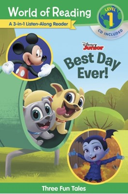 World of Reading World of Reading: Disney Jr.'s Best Day Ever! 3-in-1 Listen-Along Reader (Level 1) Disney Book Group, Disney Books 9781368044974