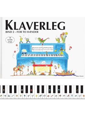Klaverleg bind 2 - for to hænder (blå) Pernille Holm Kofod 9788793603035