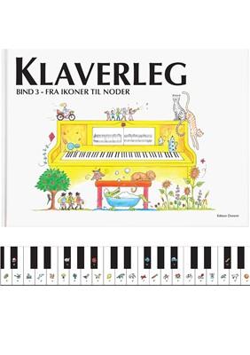 Klaverleg bind 3 - fra ikoner til noder (gul) Pernille Holm Kofod 9788799566761