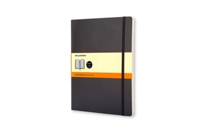 Moleskine Soft Extra Large Ruled Notebook Black Moleskine 9788883707223