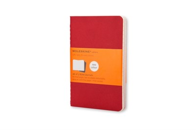 Moleskine Ruled Cahier - Red Cover (3 Set)  9788862930956